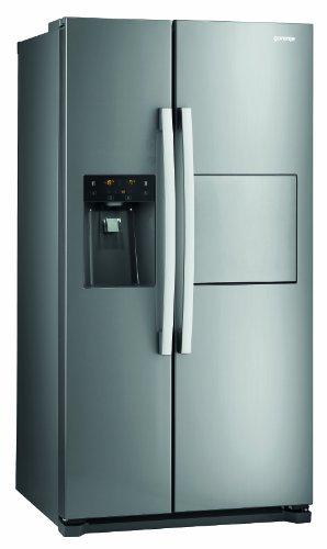 Gorenje NRS9181CXB Side by Side / A+ / / 184 cm / 445 kWh/Jahr / 370 L Kühlteil / 179 L Gefrierteil / Abtau-Vollautomatik NoFrost / Fresh-Zone-Schublade / Multiflow-Kühlsystem mit Quick Cooling Funktion / Inox Finger touch - 1