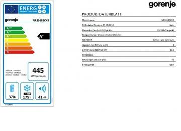 Gorenje NRS9181CXB Side by Side / A+ / / 184 cm / 445 kWh/Jahr / 370 L Kühlteil / 179 L Gefrierteil / Abtau-Vollautomatik NoFrost / Fresh-Zone-Schublade / Multiflow-Kühlsystem mit Quick Cooling Funktion / Inox Finger touch - 3