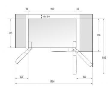 Gorenje NRS9181CXB Side by Side / A+ / / 184 cm / 445 kWh/Jahr / 370 L Kühlteil / 179 L Gefrierteil / Abtau-Vollautomatik NoFrost / Fresh-Zone-Schublade / Multiflow-Kühlsystem mit Quick Cooling Funktion / Inox Finger touch - 5