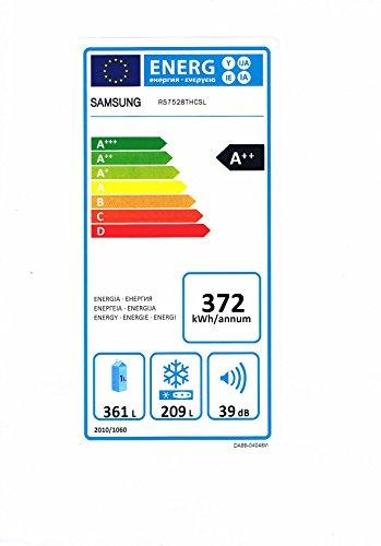 Samsung RS7528THCSL/EF Side by Side / A++ / 372 kWh/Jahr / 361 L Kühlteil / 209 L Gefrierteil / Premium Edelstahl Optik - 2