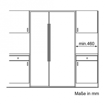 Bosch KAN62A75 Side by Side / A++ / Kühlen: 385 L  / Gefrieren: 219 L / 0 - 4