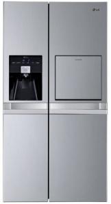 LG GSP545PVYV Side by Side Kühl-Gefrier-Kombination (A+, 362 L Kühlen, 178 L Gefrieren, NoFrost, Eis-und Wasserspender) grau - 1