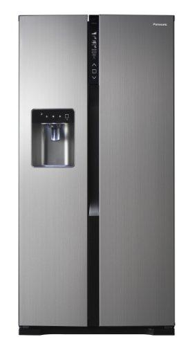 Panasonic NR-BG53V2-X Side-by-Side / A++ / Höhe 186 cm / 346 kW/Jahr / 324 Liter Kühlteil / 206 Liter Gefrierteil / Twin-Eco-Kühlsystem / VitamineSafe mit LEDs zur Vitaminerhaltung / edelstahl - 1